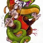 Monkey & Snake (Affe & Schlange)
